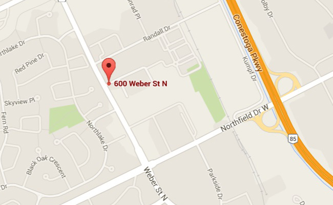 Map of 600 Weber St location